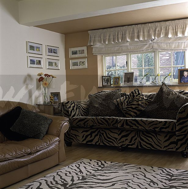 Tiger Rug Room: Image: Tiger Print Sofa And Matching Rug In Nineties