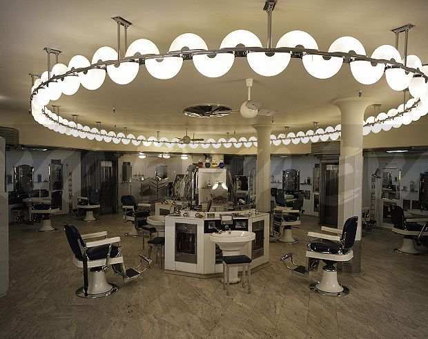 Image Barber S Shop Inside Austin Reed Regent St London Inside London Ewa Stock Photo Library