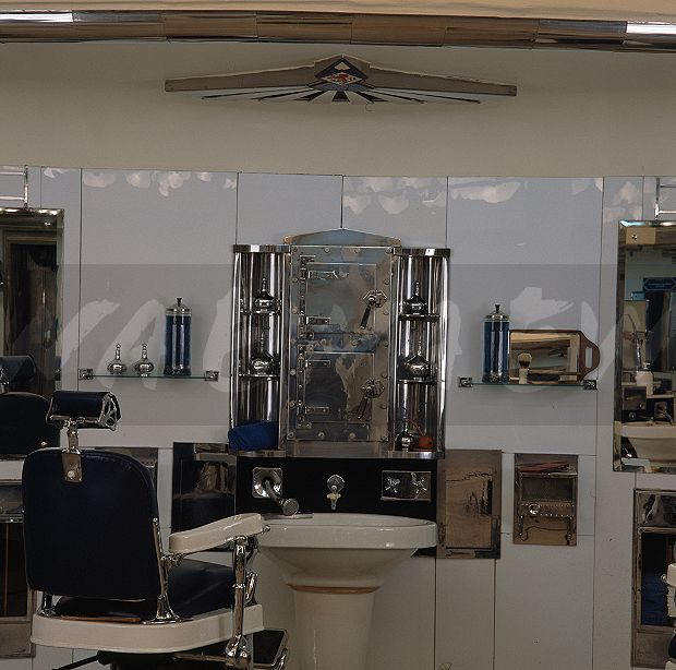 Image Barber Shop In The Basement Of The Austin Reed Department Store Inside London Ewa Stock Photo Library