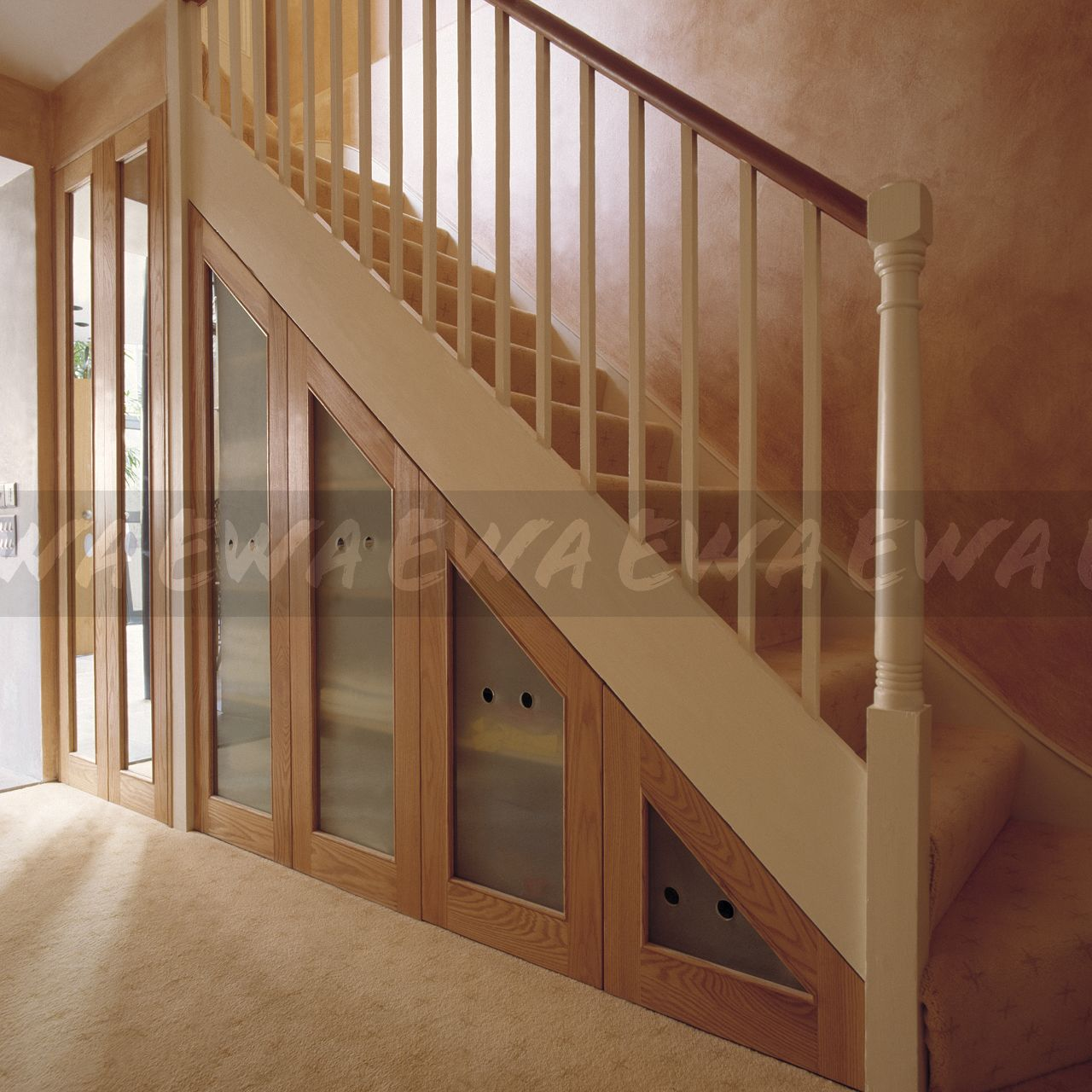 Image Staircase With Understairs Concealed Storage