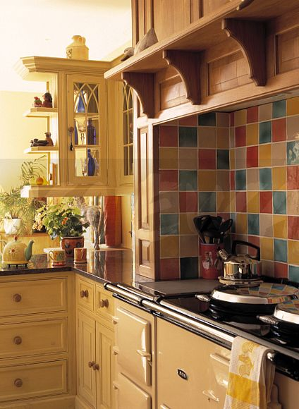 tiles for country kitchen image colourful tiles above aga oven in traditional 6211
