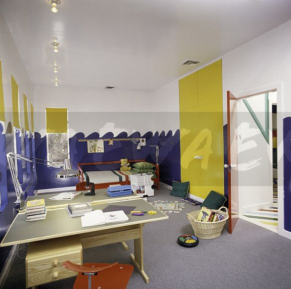 Image Bright Yellow Doors In Children 39 S Eighties Bedroom